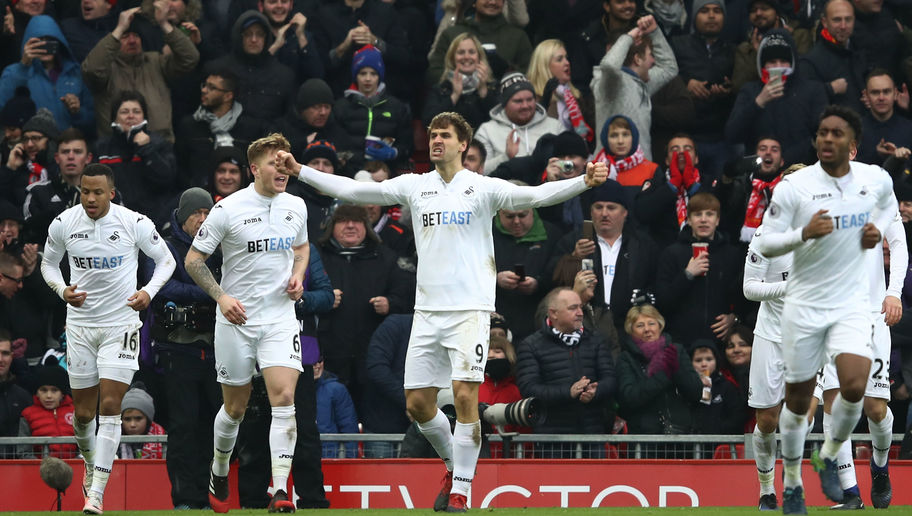 Liverpool 2-3 Swansea: Swans Edge Five-Goal Thriller to Climb Out of the Relegation Zone