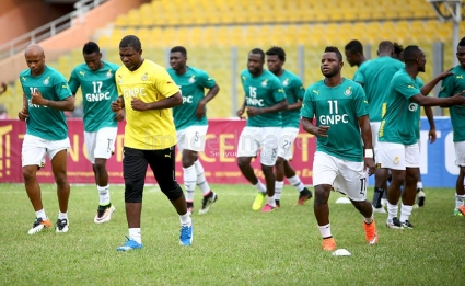 VIDEO: Watch Black Stars in recovery training after pipping Mali