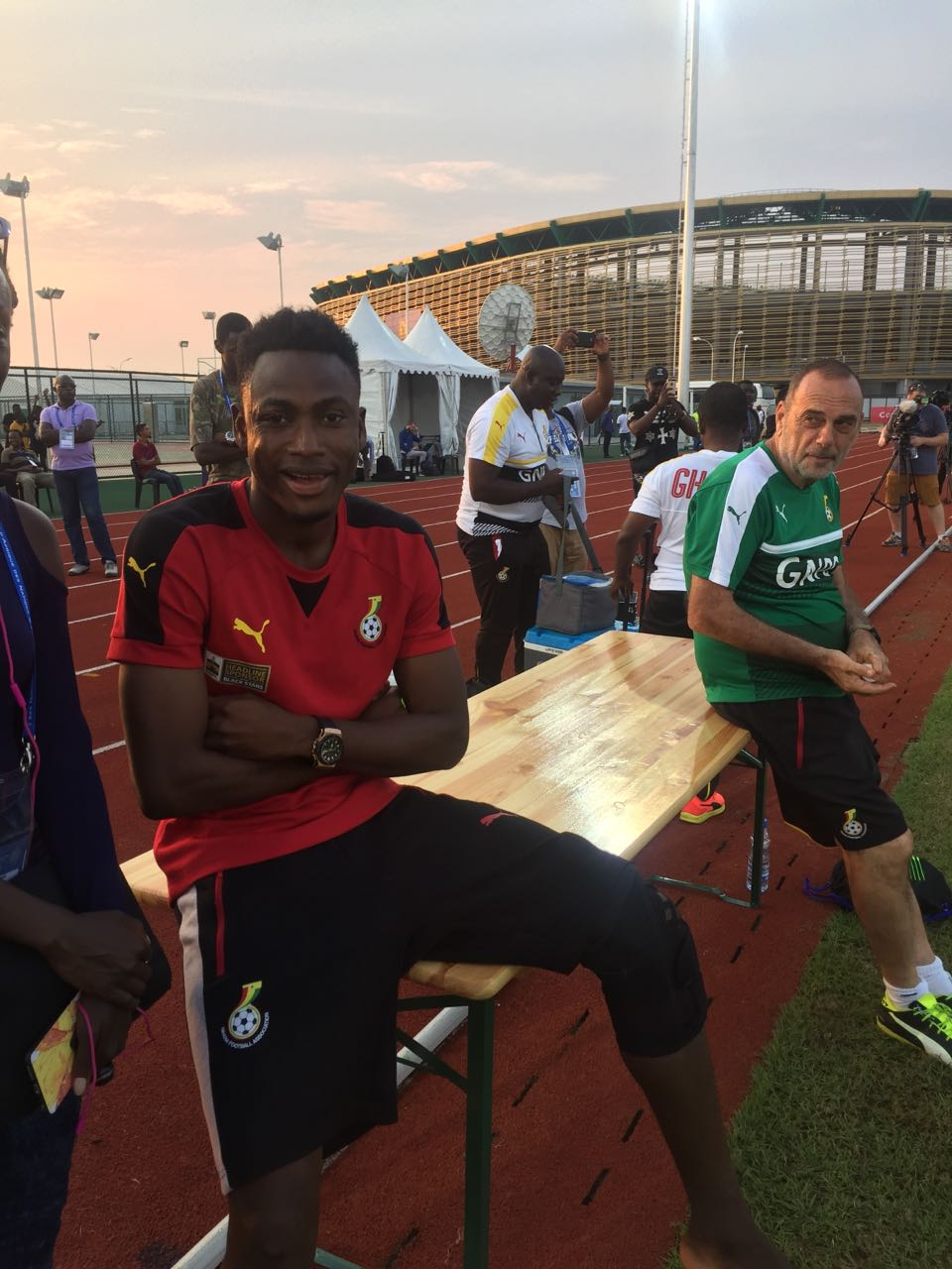 Crocked Baba Rahman visits Black Stars training before leaving camp to Germany