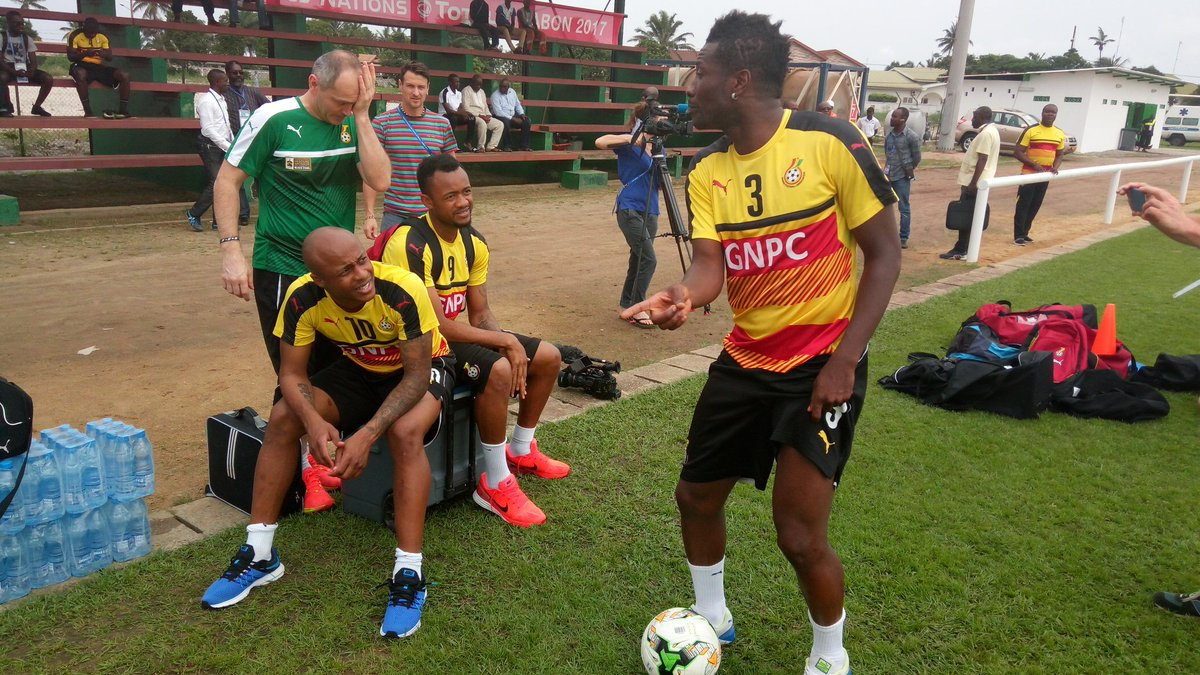 LIVE: Black Stars return to training just hours after securing first win at AFCON 2017 against Uganda