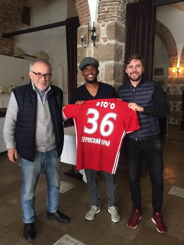 Cameroon football legend Samuel Eto o joins Russian side FC Amkar