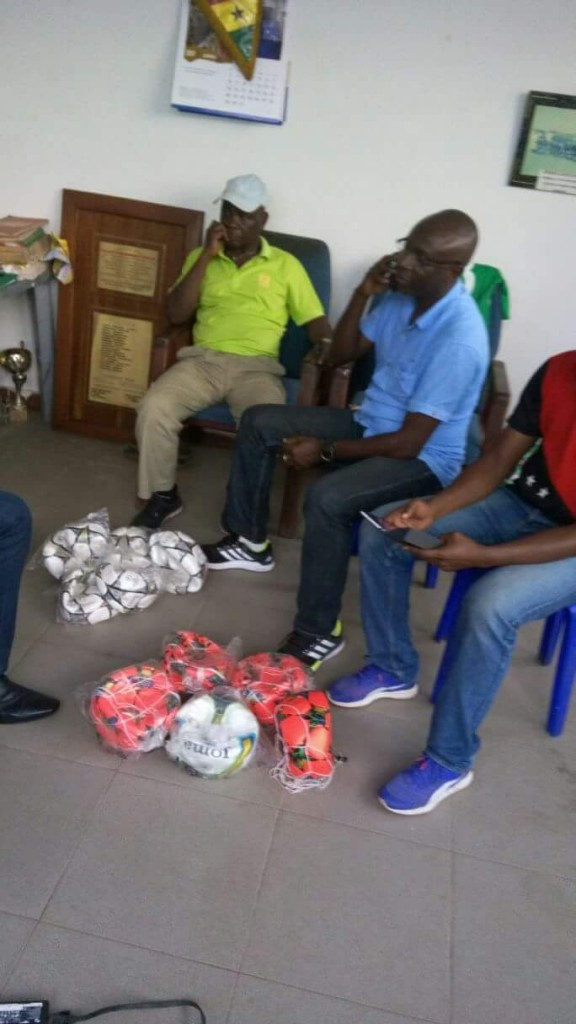 DONATION: Black Queens coach Yusif Basigi donates footballs to Hasaacas