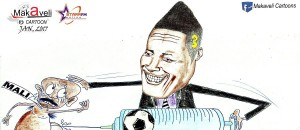 CARTOON OF THE DAY: Ghana skipper Asamoah Gyan tops all