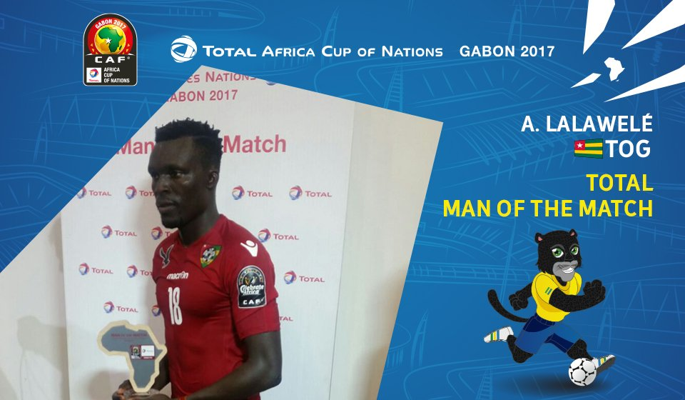 2017 AFCON: Togo midfielder Atakora Lalawele wins Man-of-the-Match award in Ivory Coast stalemate