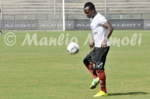 Ghanaian midfielder Moses Odjer trains alone ahead of Salernitana clash against Spezia in Seria B