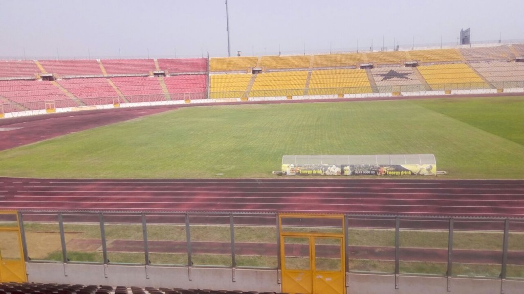 Current state of the Baba Yara Stadium pitch