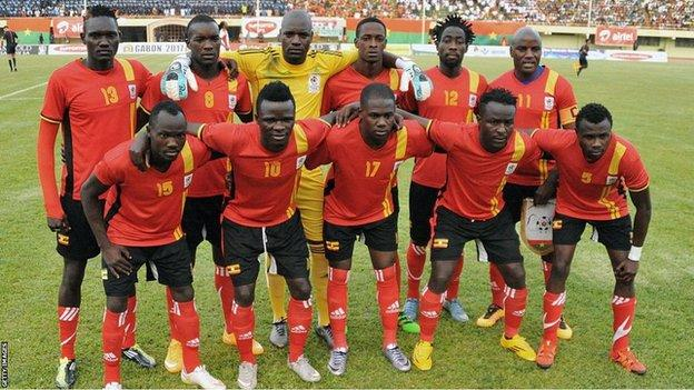 AFCON 2017: Uganda FA President arrives in Gabon with cash bonuses for Cranes