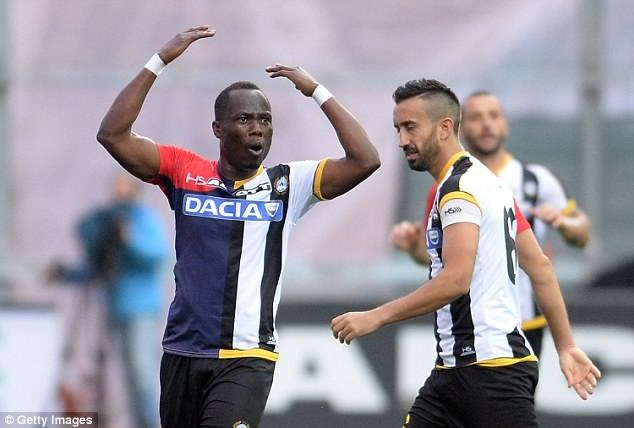 Agyemang-Badu charges Udinese teammates to improve performance