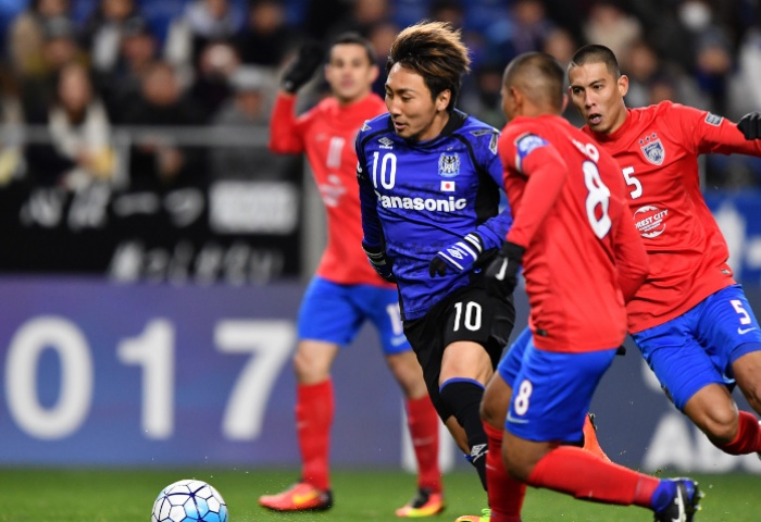 Shu Kurata kept JDT on the back foot to ensure Gamba Osaka progress