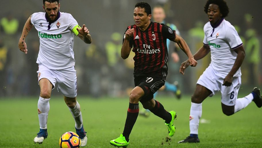 AC Milan Boss Vincenzo Montella Tells Carlos Bacca to 'Get Used to Boos' After Fiorentina Win