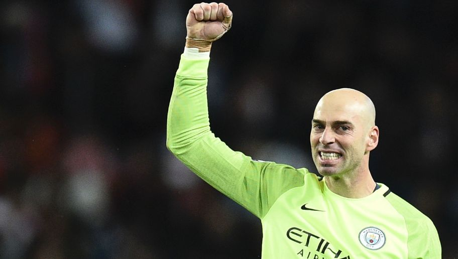 VIDEO: Willy Caballero Exclaims 'Look at That!' Whilst Holding Back Laughing at Aguero's Dive