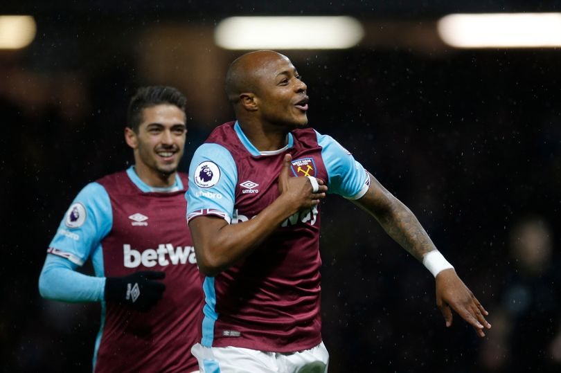 West Ham star Andre Ayew hopes to hit the accelerator against Chelsea on Monday