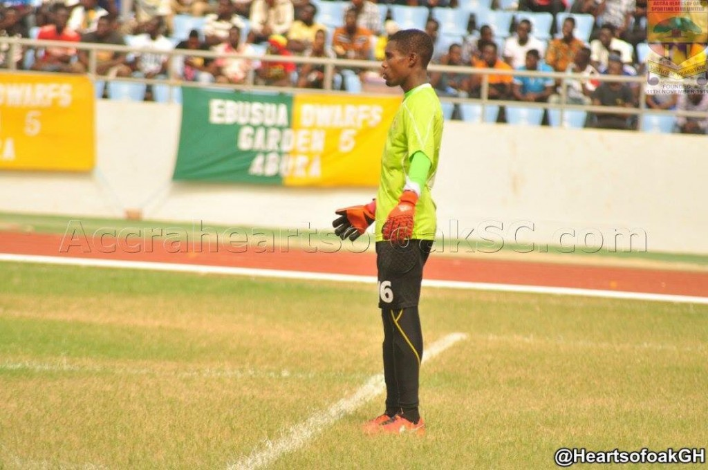 Hearts of Oak goalie Ben Mensah named Man-of-the-Match in Ebusua Dwarfs draw