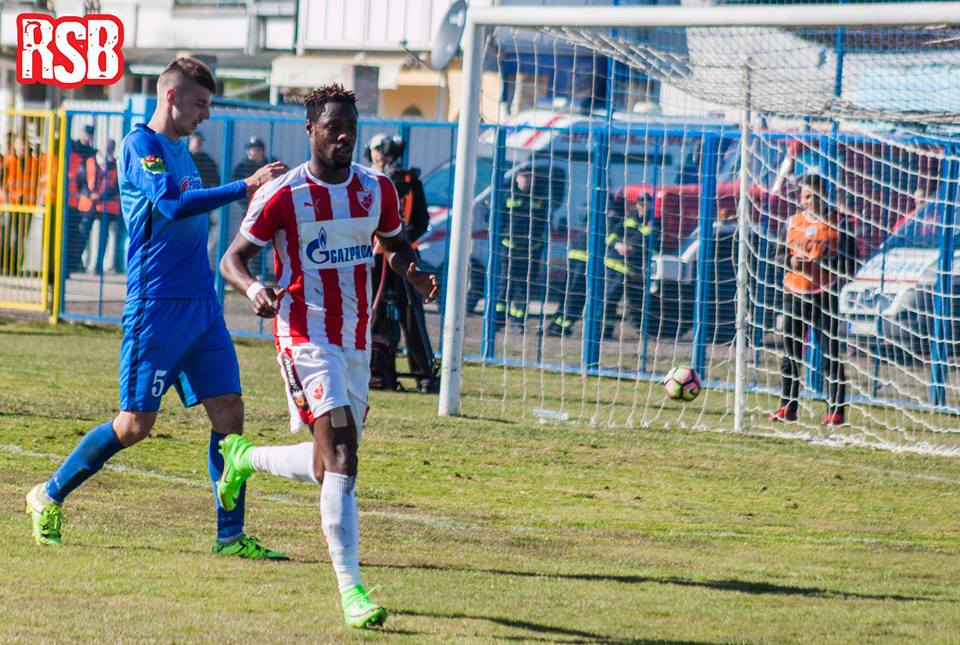 Ghana forward Boakye-Yiadom scores BRACE to power Red Star Belgrade in Serbia