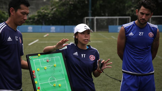 Chan flying the flag for female coaches as she becomes first woman to handle men's team