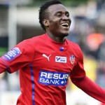 VIDEO: David Accam celebrates with team mates after record breaking goal