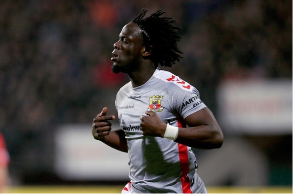 VIDEO: Watch Ghanaian attacker Elvis Manu score sensational goal for Go Ahead Eagles in Holland
