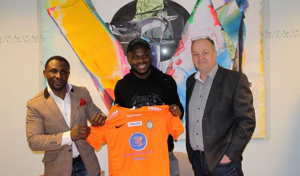 Ex-Arsenal midfielder Emmanuel Frimpong boasts: ''No-one bigger than me in Sweden''