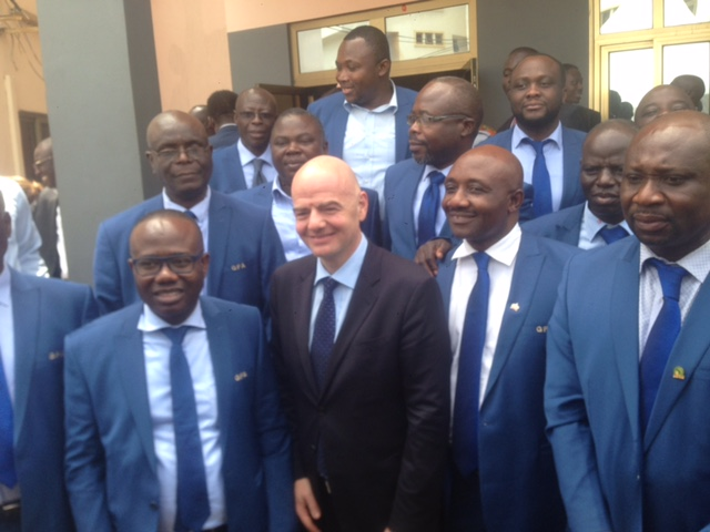 FIFA boss Gianni Infantino explains he was not in Zimbabwe to campaign against Issa Hayatou