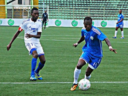 Former Medeama forward Godbless Asamoah on target for Nigerian side River United in NPFL