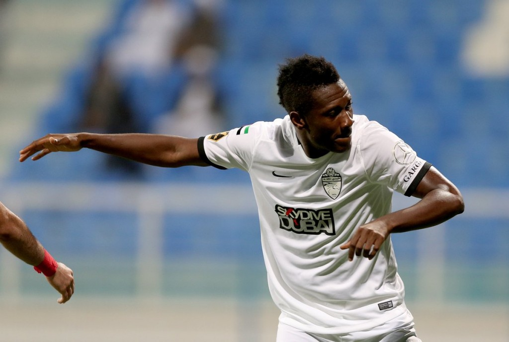 VIDEO: Watch Asamoah Gyan score for Al Ahli after just TWO minutes on the pitch