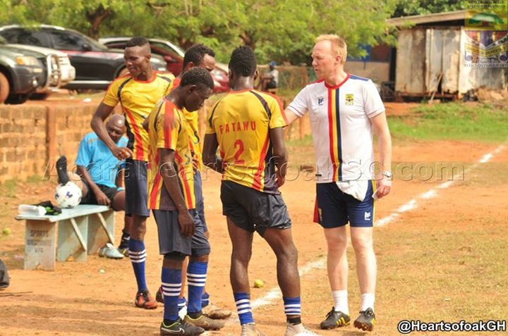Hearts of Oak players adapting to my style, says new coach Frank Nuttall