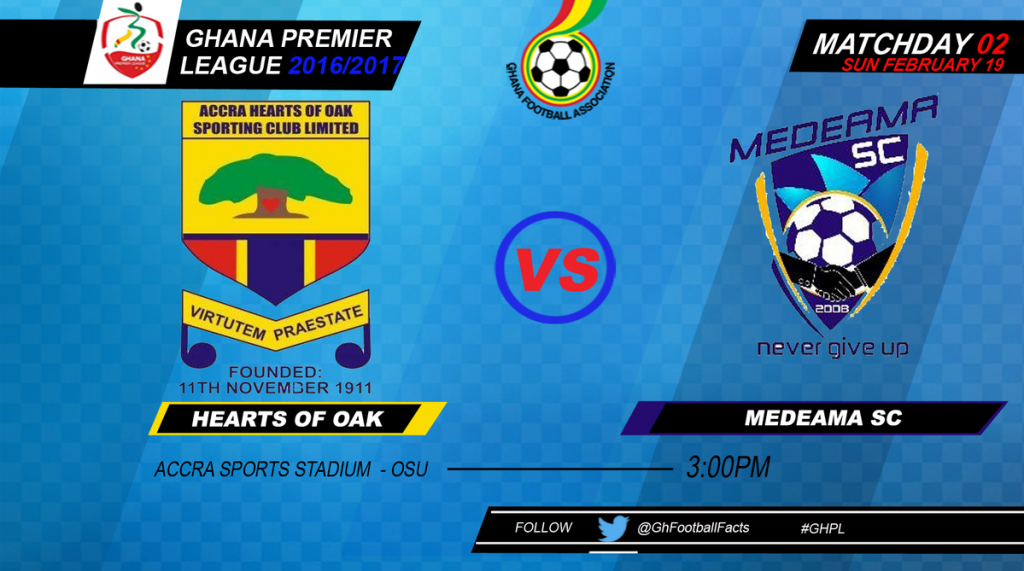 LIVE: Hearts of Oak - Medeama SC - 2016/17 Ghana Premier League