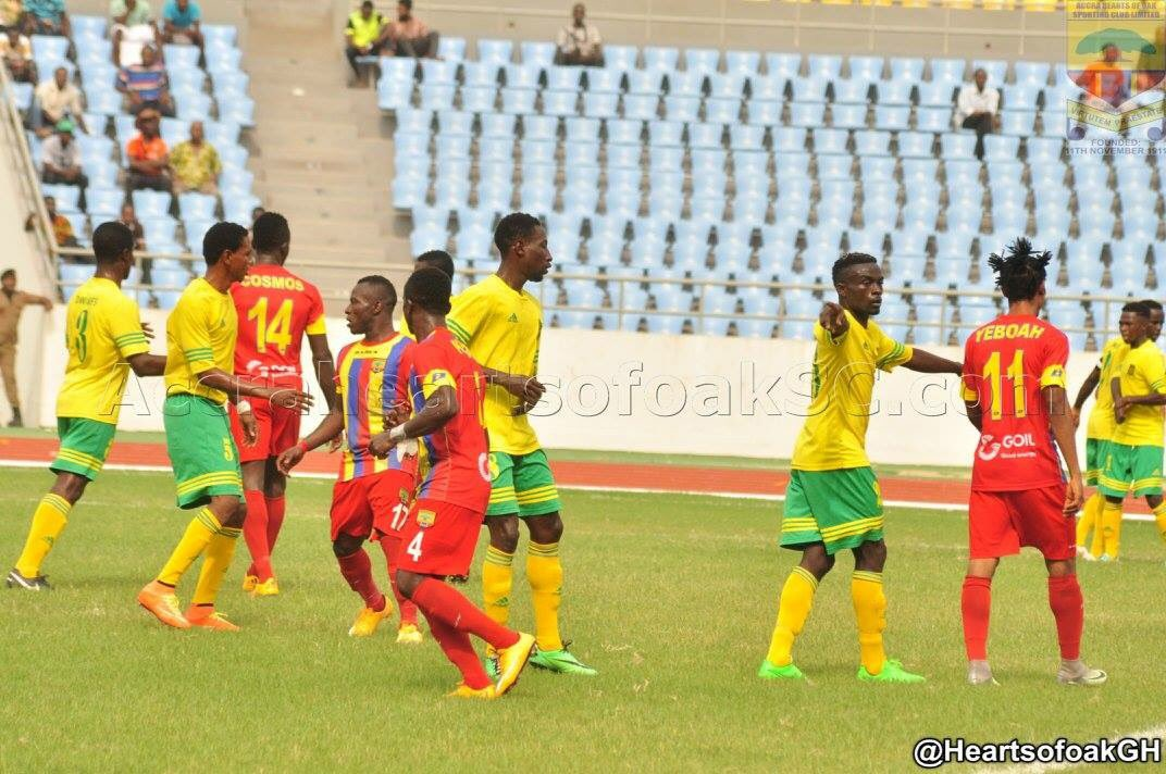 Match Report:  Ebusua Dwarfs 1:1 Hearts of Oak- Crabs frustrate draw masters in Cape Coast