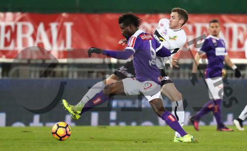 Ghana defender Kadri Mohammed plays first 90 minutes in Austria Wien's home defeat