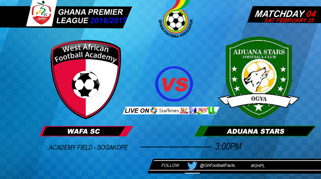 RE-LIVE: WAFA 1-1 Aduana Stars: 2016/17 Ghana Premier League