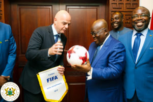 Ghana President Akufo-Addo backs FIFA reforms under Gianni Infantino