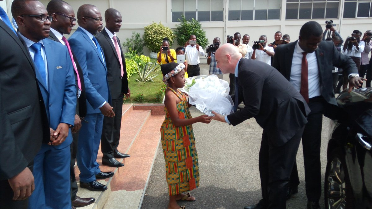 FIFA president Gianni Infantino arrives in Ghana for visit