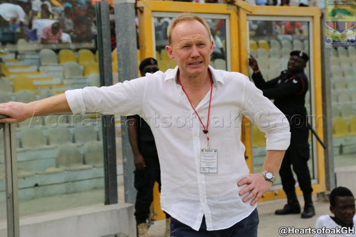 Hearts coach Frank Nuttall happy with players performance in Medeama draw