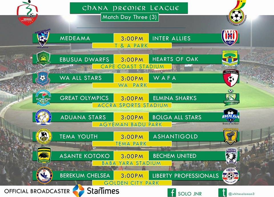 LIVE: 2016/17 Ghana Premier League Week III Coverage