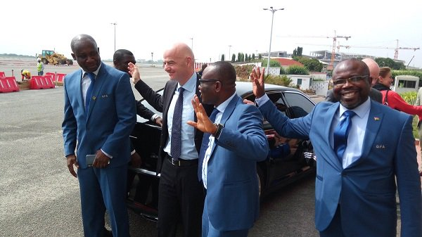 VIDEO: FIFA president Gianni Infantino tours Accra Sports Stadium