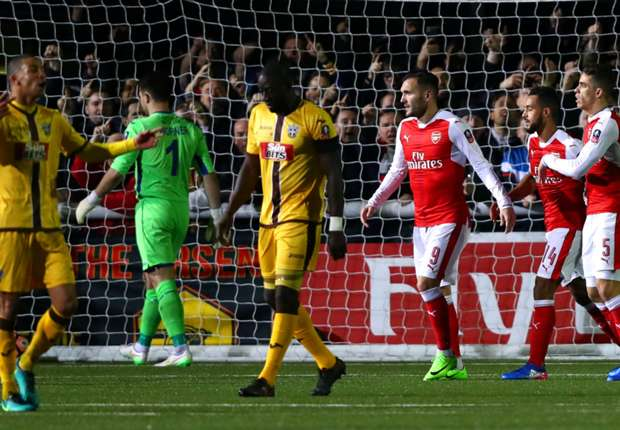 Ghanaian duo Amankwaah, Hudson-Odoi fail to steer Sutton United to shock FA Cup win over Arsenal