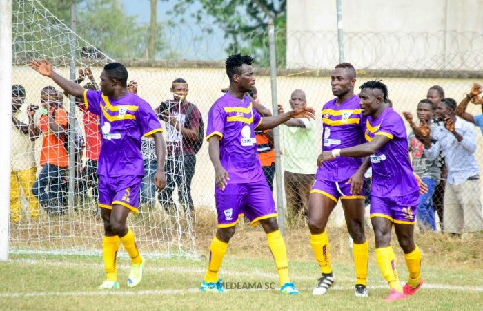 Eric Kwakwa bosses midfield as Medeama hold Hearts to barren draw