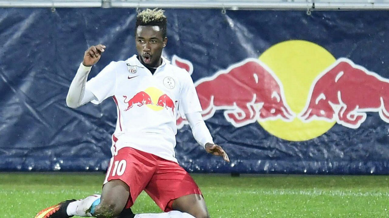 VIDEO: Red Bull Salzburg striker Samuel Tetteh steps up training to full fitness