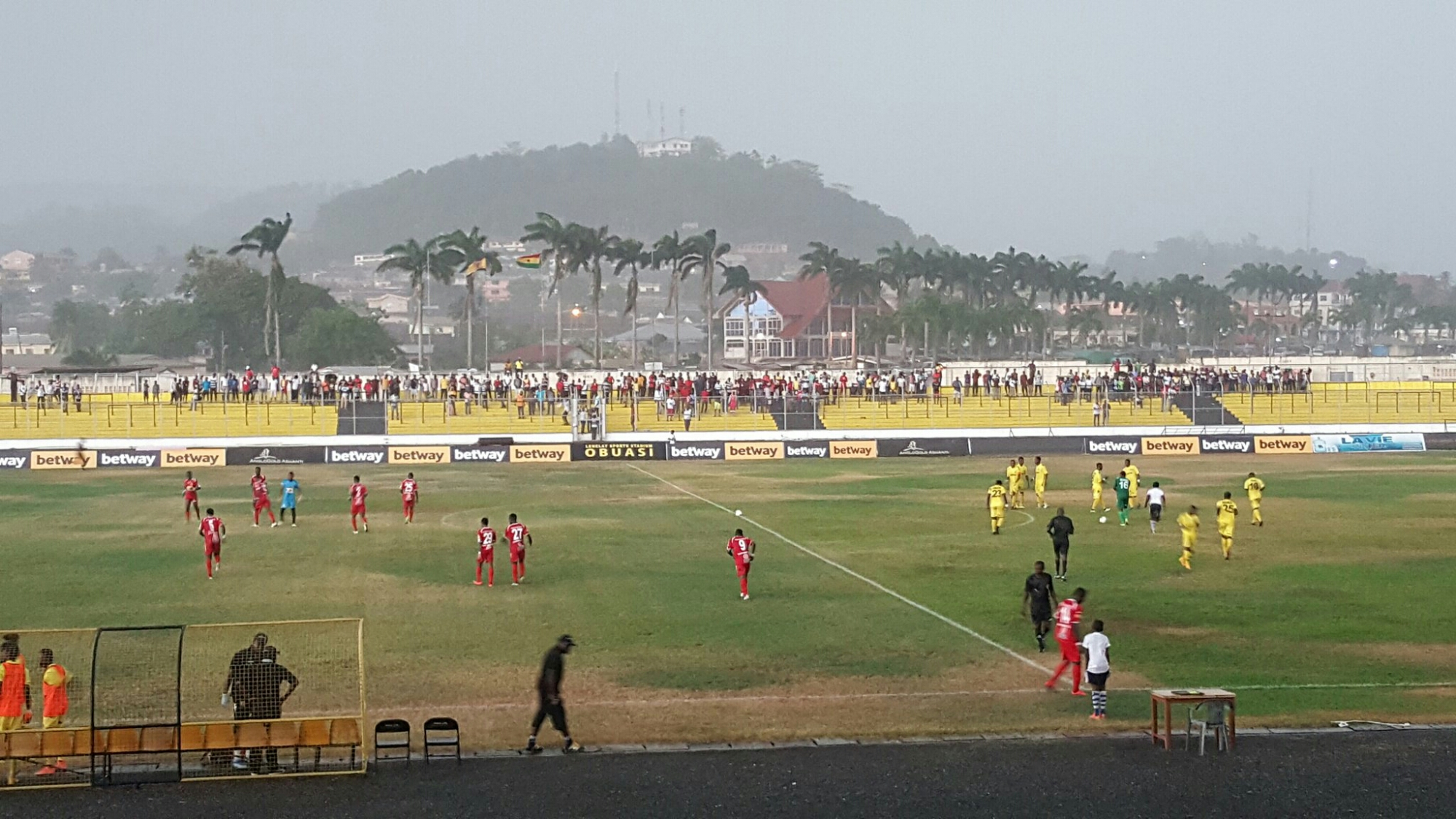 Ashanti Gold-Asante Kotoko game called off after first half due to heavy rain