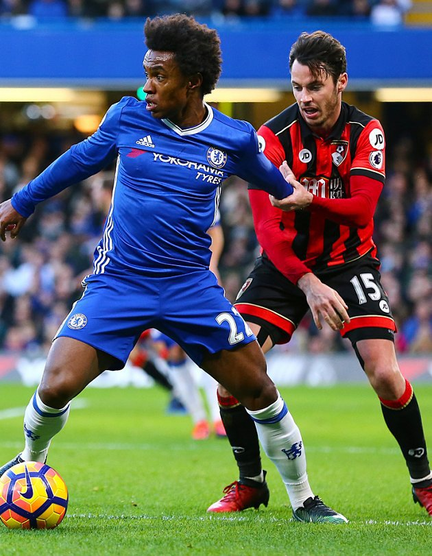 Chelsea boss Conte ponders selling Man Utd target Willian