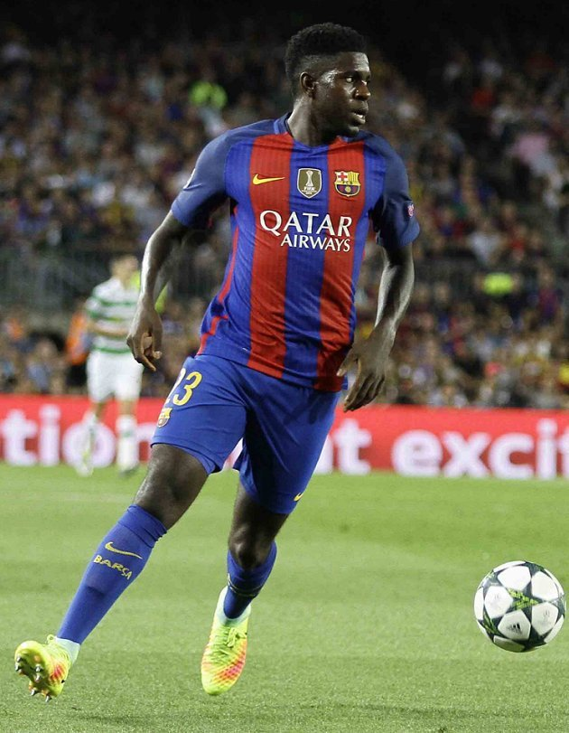 Umtiti happy playing alongside Pique at Barcelona
