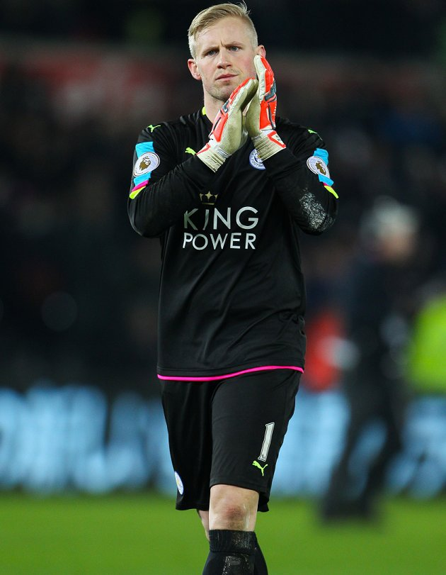 Stoke keeper Grant: Leicester star Schmeichel always compared to his great father