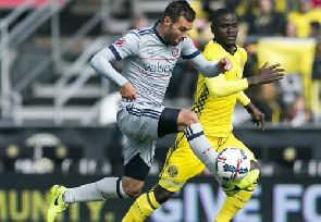 Ghanaian duo Jonathan Mensah and Harrison Afful involved in Columbus Crew 3-2 win over Portland Timbers in MLS