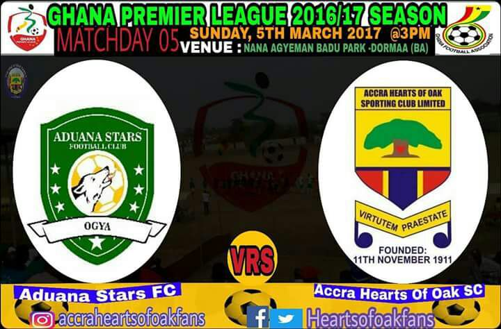 RE-LIVE: Aduana Stars 2-0 Hearts of Oak - 2016/17 Ghana Premier League