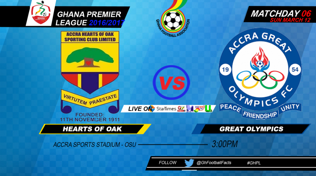 RE-LIVE: Hearts of Oak 2-1 Great Olympics - 2016/17 Ghana Premier League