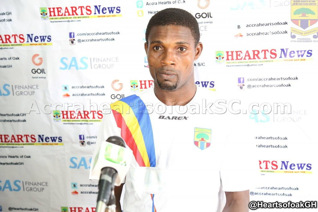 Hearts of Oak shot-stopper Ben Mensah not worried by the club's interest in other goalkeepers
