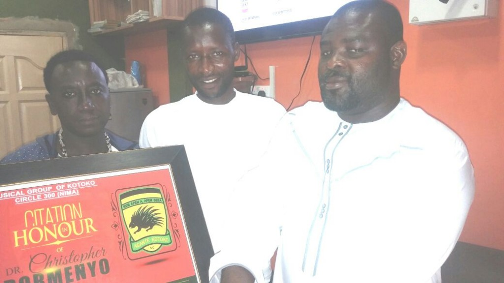 Musical Circle 300 honours staunch Kotoko supporter Christopher Demenya for relentless support to the club