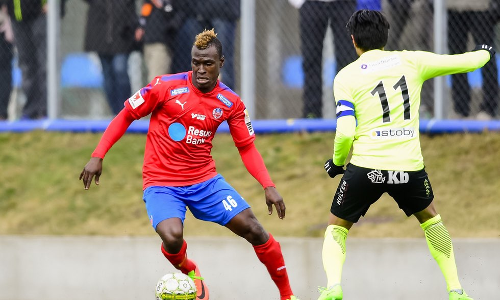 VIDEO: Helsingborg's Edwin Gyimah talks about playing in Sweden and winning games