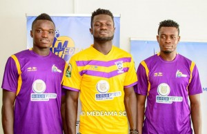 Joseph Halm (right) rejoined Medeama on a free transfer in January