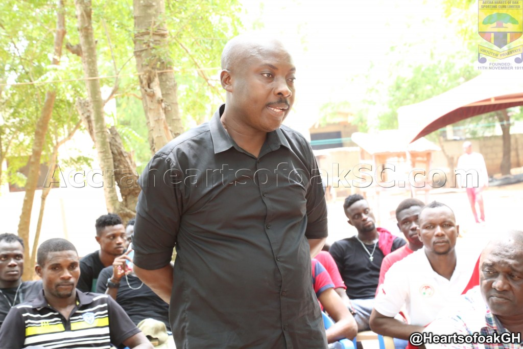 Hearts of Oak players and staff visit residence of late former coach Herbert Addo